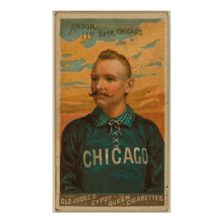 Casquillo Anson, medias del blanco de Chicago Póster