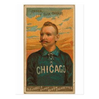 Casquillo Anson, medias del blanco de Chicago Tarjetas Postales