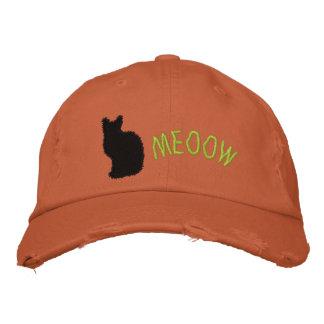 Casquillo apenado bordado del gato negro gorras bordadas