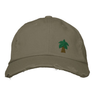 Casquillo apenado palmera gorras bordadas