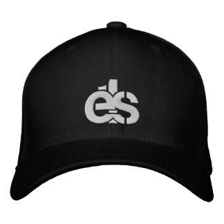 Casquillo apto de la flexión negra con el logotipo gorra de beisbol