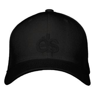 Casquillo apto de la flexión negra con el logotipo gorra de beisbol bordada