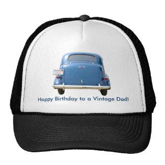 ¡Casquillo azul de Chevy del vintage del cumpleaño Gorras