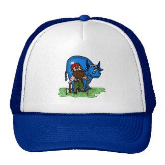 Casquillo azul del buey de Paul Bunyan y del bebé Gorras De Camionero