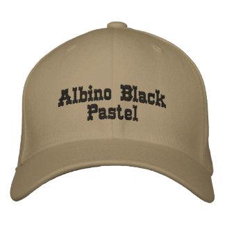 Casquillo básico en colores pastel negro de las gorras de béisbol bordadas