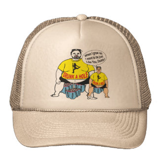 Casquillo bebido divertido del padre y del hijo gorras de camionero