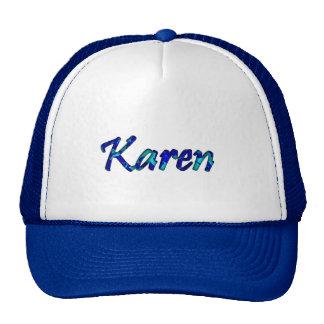 Casquillo blanco azul del camionero para Karen Gorro