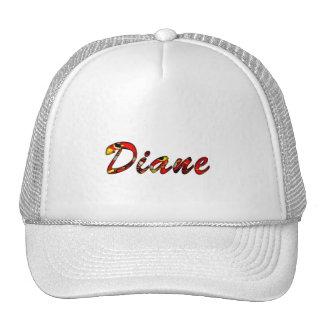 Casquillo blanco de la malla de Diane Gorras De Camionero