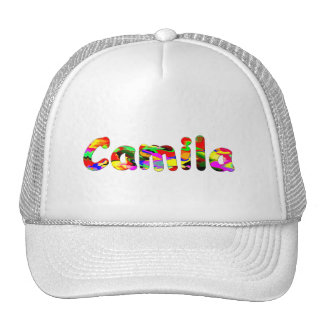 Casquillo blanco de la malla para Camila Gorras