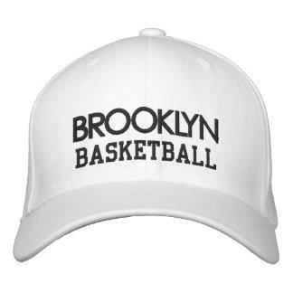 Casquillo BLANCO del baloncesto de BROOKLYN Gorras De Béisbol Bordadas