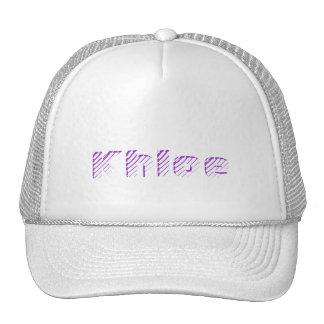 Casquillo blanco y púrpura de Khloe de la malla Gorro