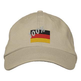 Casquillo bordado alemán del 100% gorras de béisbol bordadas