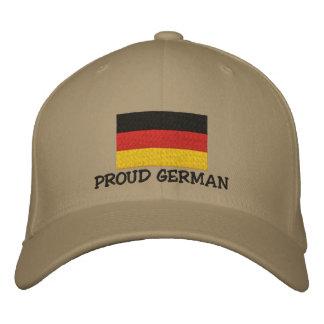 Casquillo bordado alemán orgulloso gorro bordado