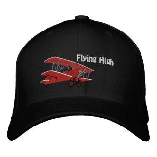 Casquillo bordado alto aeroplano que vuela gorra de béisbol bordada