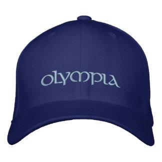Casquillo bordado azul de Olympia Gorro Bordado