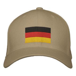 Casquillo bordado bandera alemana gorra de beisbol bordada