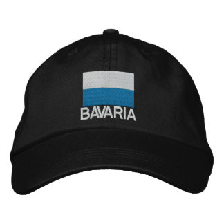 Casquillo bordado bandera de Baviera de Alemania Gorras De Béisbol Bordadas