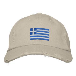 Casquillo bordado bandera de la tela cruzada de gorra de béisbol bordada
