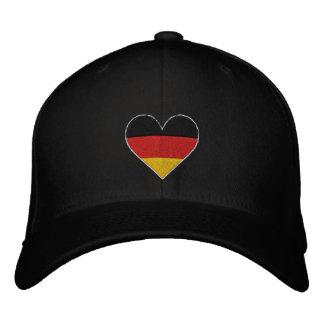 """Casquillo bordado bandera del corazón"""" de Alemania Gorros Bordados"""