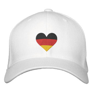 """Casquillo bordado bandera del corazón"""" de Alemania Gorras De Béisbol Bordadas"""