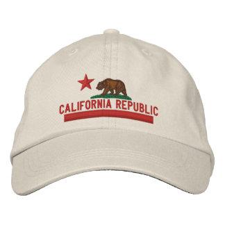Casquillo bordado bandera del estado de la gorras de béisbol bordadas
