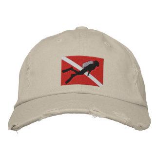 Casquillo bordado buceador gorra de béisbol