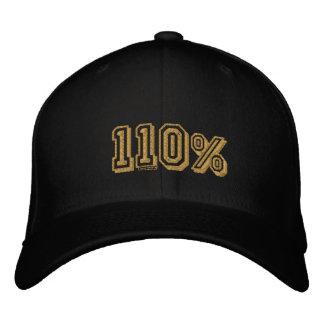 Casquillo bordado campeones 110% del oro gorra de beisbol bordada