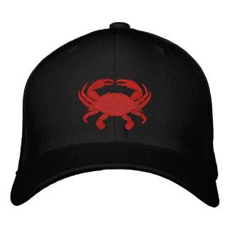 Casquillo bordado cangrejo rojo gorras bordadas