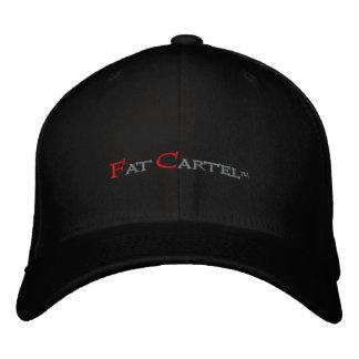 Casquillo bordado cártel gordo. (Negro) Gorra De Béisbol