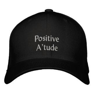 Casquillo bordado de la actitud positiva gorras de béisbol bordadas
