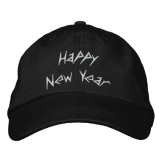 Casquillo bordado de la Feliz Año Nuevo Gorra De Béisbol