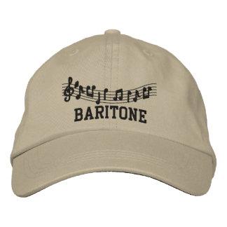 Casquillo bordado de la música del barítono gorra de béisbol bordada
