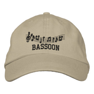 Casquillo bordado de la música del Bassoon Gorras De Béisbol Bordadas