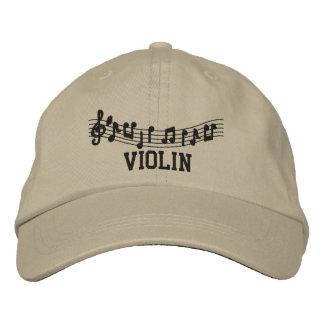 Casquillo bordado de la música del violín gorras de beisbol bordadas