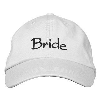 Casquillo bordado de la novia gorra de beisbol