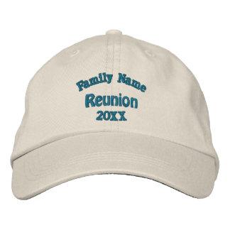 Casquillo bordado de la reunión de familia gorras de beisbol bordadas