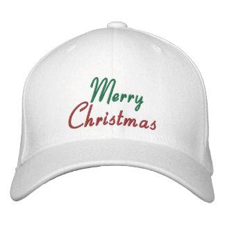 Casquillo bordado de las Felices Navidad Gorra De Beisbol Bordada