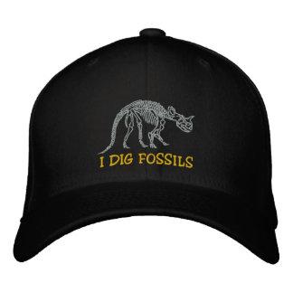 Casquillo bordado de los fósiles de Rockhound Gorra De Beisbol Bordada