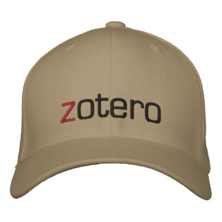 Casquillo bordado de Zotero Gorra De Beisbol Bordada