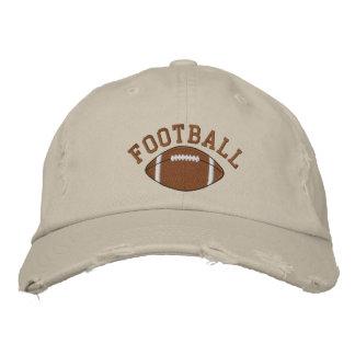 Casquillo bordado del fútbol gorra de beisbol bordada