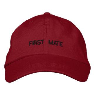 Casquillo bordado del primer compañero gorras de béisbol bordadas