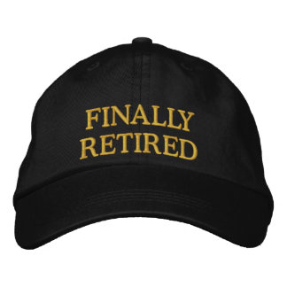 Casquillo bordado finalmente jubilado gorras de beisbol bordadas