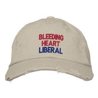 Casquillo bordado liberal del corazón sangrante gorras bordadas