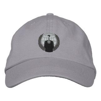 Casquillo bordado logotipo anónimo fresco gorra bordada