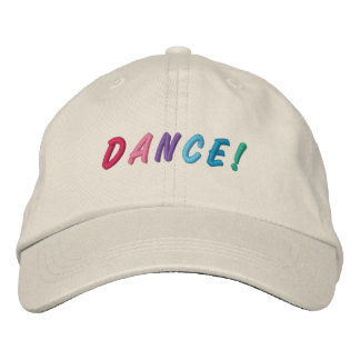 Casquillo bordado multicolor 2 de la danza gorras de beisbol bordadas
