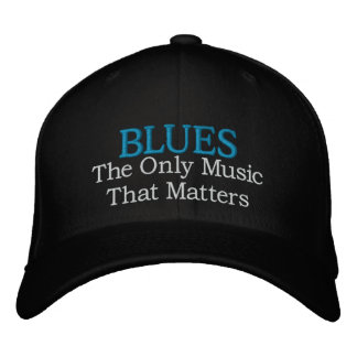 Casquillo bordado música de los azules gorra de béisbol