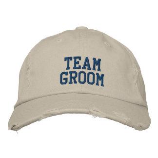 Casquillo bordado novio de la bola del equipo gorras de béisbol bordadas