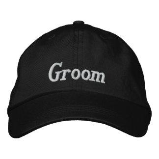 Casquillo bordado novio gorra bordada