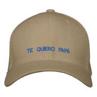 Casquillo bordado papá de Te Quiero del español Gorras Bordadas