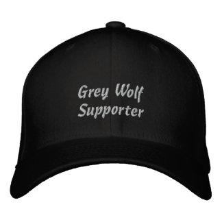 Casquillo bordado partidario del lobo gris gorras de béisbol bordadas